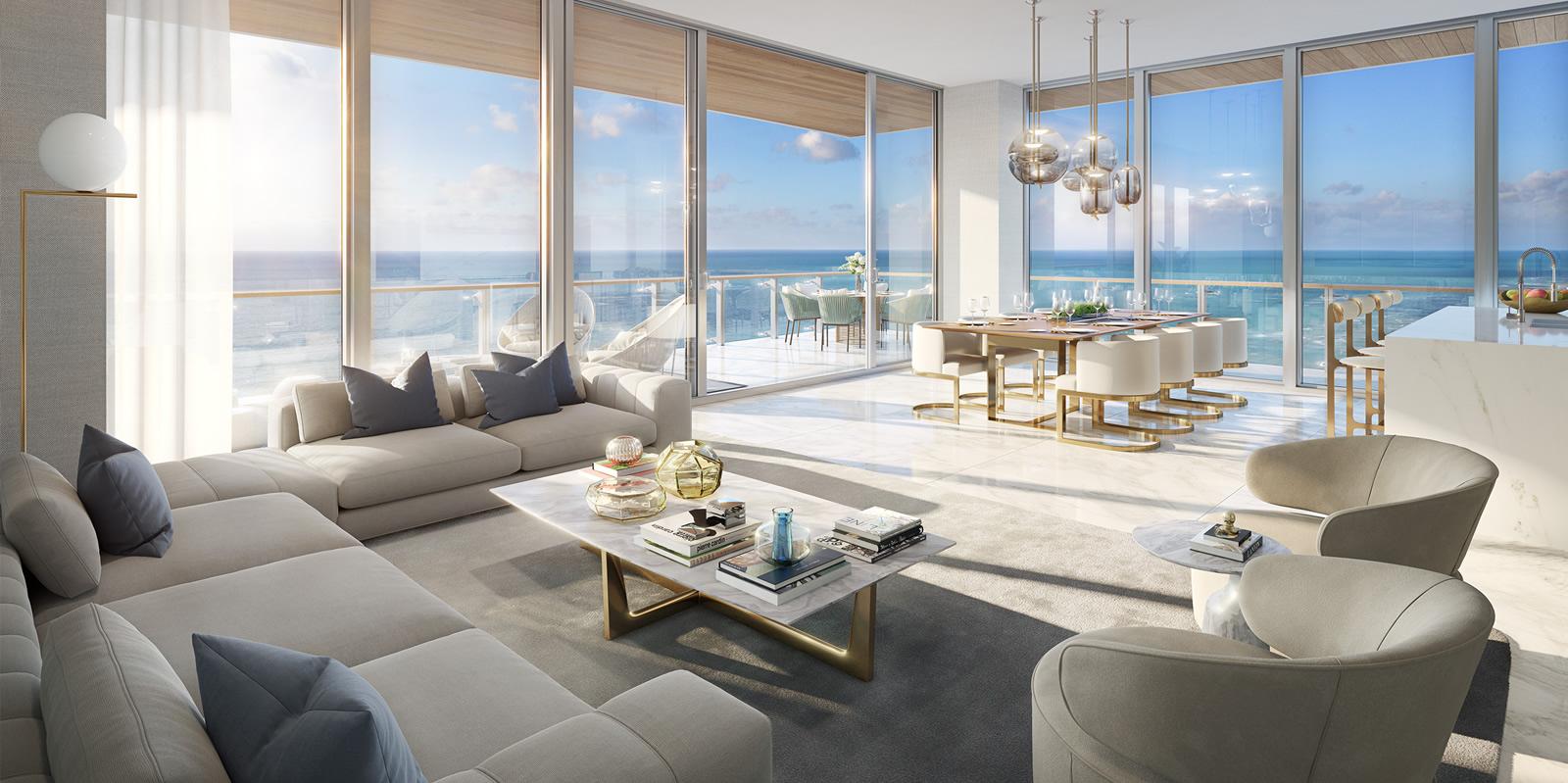 57 Ocean Living Room