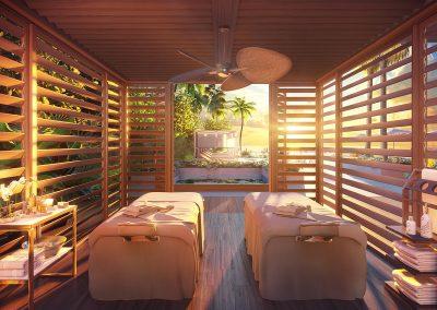 3D rendering sample of a cabana design in 57 Ocean condo.