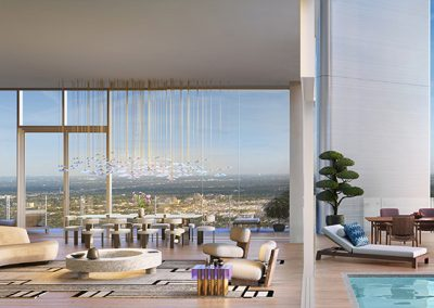 3D rendering sample of a penthouse unit design in Missoni Baia condo.