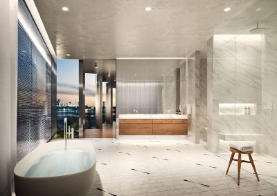3D rendering sample of a bathroom design in Monad Terrace condo.